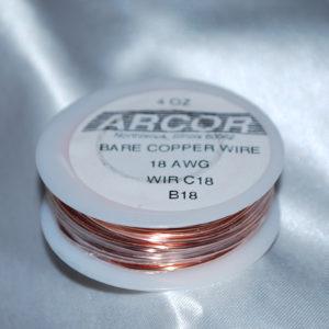 4oz Bare Copper Wire 18G
