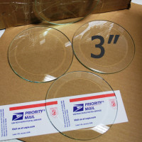 "3"" Clear Bevel Circles (3 inch)"