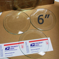 "6"" Clear Bevel Circles (5 inch)"