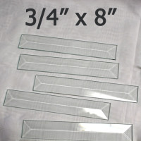 "3/4"" x 8"" Clear Bevel Rectangle (.75 inch x 8 inch)"