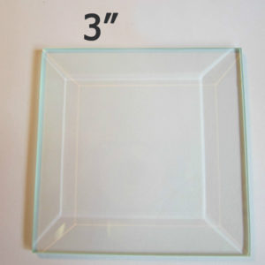 "3"" Clear Bevel Square (3 inch)"