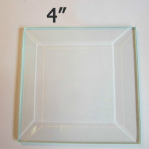 "4"" Clear Bevel Square (4 inch)"