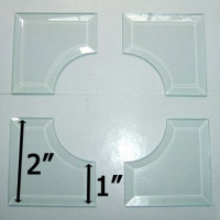 "2"" x 2"" Inside Curved Corner Bevel SET Match 1"" Wide Bevels"