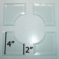 "4x4 Inside Curved Corner Bevel Set Match 2"" Wide Bevels"