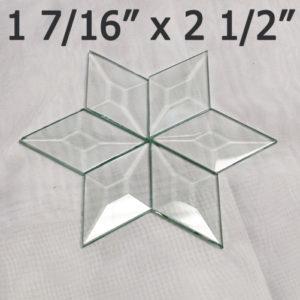 "1 7/16"" x 2 1/2 Clear Bevel Diamond (1.44 inch x 2.5 inch)"