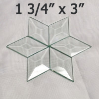 "1 3/4"" x 3"" Clear Bevel Diamond (1.75 inch x 3 inch)"