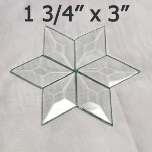 "1 3/4"" x 3"" Clear Bevel Diamond (1.75 inch x 3 inch)"