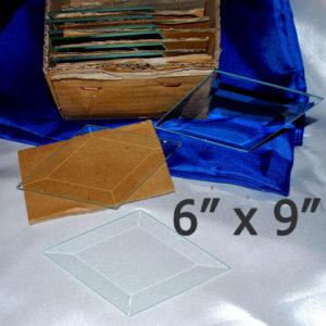 "6"" x 9"" Clear Bevel Diamond (6 inch x 9 inch)"