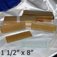 "1 1/2"" x 8"" Clear Bevel Rectangle (1 1/2 inch x 8 inch)"