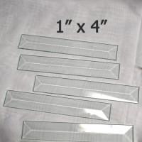 "bevel rectangle 1"" x 4"""