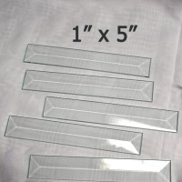 "bevel rectangle 1"" x 5"""