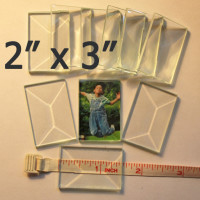 "2"" x 3"" Clear Bevel Rectangle (2 inch x 3 inch)"