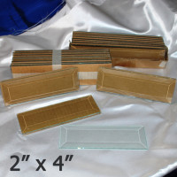 "2"" x 4"" Clear Bevel Rectangle (2 inch x 4 inch)"