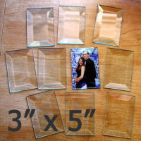 "3"" x 5"" Clear Bevel Rectangle (3 inch x 5 inch)"