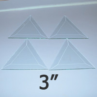 "3"" Clear Bevel Triangle (3 inch)"