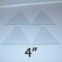 "4"" Clear Bevel Triangle (4 inch)"