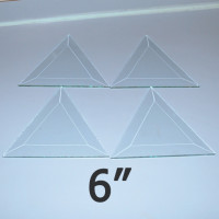 "6"" Clear Bevel Triangle (6 inch)"