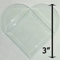 "Project Kit: 3"" Beveled Heart"