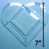 "Project Kit: 7"" Multi Beveled Heart (3"" square center)"