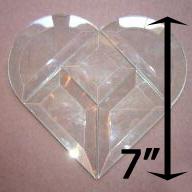 "Project Kit: 7"" Multi Beveled Heart (2"" square center)"