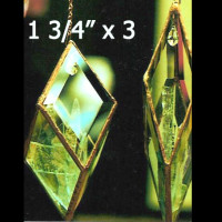 """Project Kit: SMALL Hanging Prism - (5) 1-3/4"""" x 3"""" Clear Glass Diamond Bevels"""