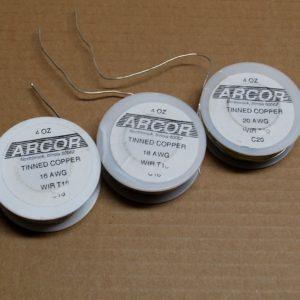 WIRE MIX - (3) Tinned Copper 4oz Wire Rolls (silver color) 16 ga, 18 ga, 20 ga