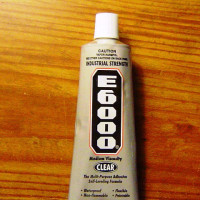 3 Pack - E6000 Clear ADHESIVE tiny tube (.18 oz) 5.32 ml