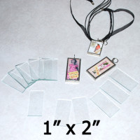 "1"" x 2"" Rectangles Clear Flat Glass (1 inch x 2 inch)"