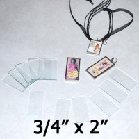 "3/4"" x 2"" Rectangles Clear Flat Glass (.75 inch x 2 inch)"