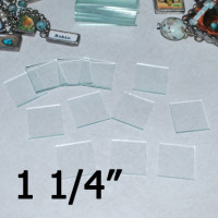 "1 1/4"" Square Clear Flat Glass (1.25 inch)"