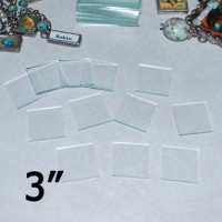 "3"" Square Clear Flat Glass (3 inch)"