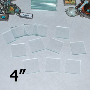 "4"" Square Clear Flat Glass (4 inch)"