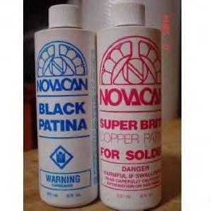 Patina Combo Pack- 8 oz ea. Novacan Black Patina and Copper Patina