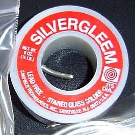 1/2 Lbs. (8 oz) Roll Silvergleem Solder (LEAD FREE)