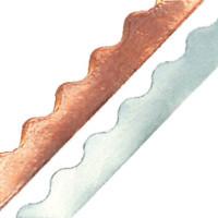 WAVY / SCALLOPED Edge Copper Foil Tape SILVER BACK - 36 yards - Venture Tape