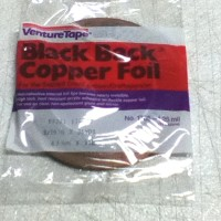 3/16″ Copper Foil Tape BLACK BACK – 36 yards – Venture Tape