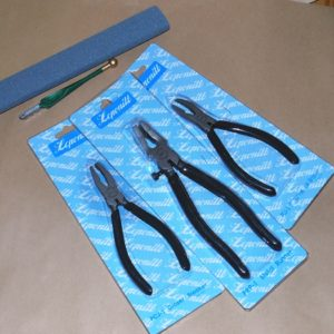 Cut, Break, and Grind - 5 Piece Tool KIT - 3 styles of Breakers, Grinding Stone (Carborundum), and a Fletcher Cutter