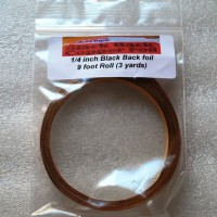 "1/4"" Copper Foil Tape BLACK BACK - 3 yards - Venture Tape"