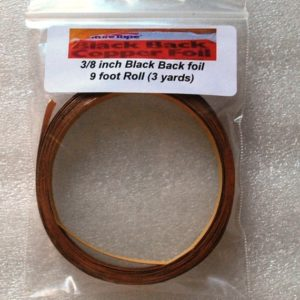 "3/8"" Copper Foil Tape BLACK BACK - 3 yards - Venture Tape"