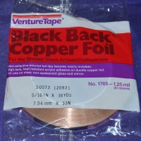 "5/16"" Copper Foil Tape BLACK BACK - 36 yards - Venture Tape"