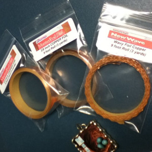 3 pack Variety Mix - 9 feet of Copper Foil - Sizes WAVY / SCALLOPED, 3/8, and 1/2 Inch - Venture Tape (Copy)