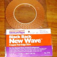 WAVY / SCALLOPED Edge Copper Foil Tape BLACK BACK - 36 yards - Venture Tape
