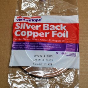 "1/4"" Copper Foil Tape SILVER BACK - 36 yards - Venture Tape"