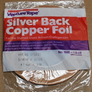 "3/16"" Copper Foil Tape SILVER BACK - 36 yards - Venture Tape"