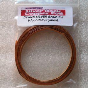 "1/4"" Copper Foil Tape SILVER BACK - 3 yards - Venture Tape"
