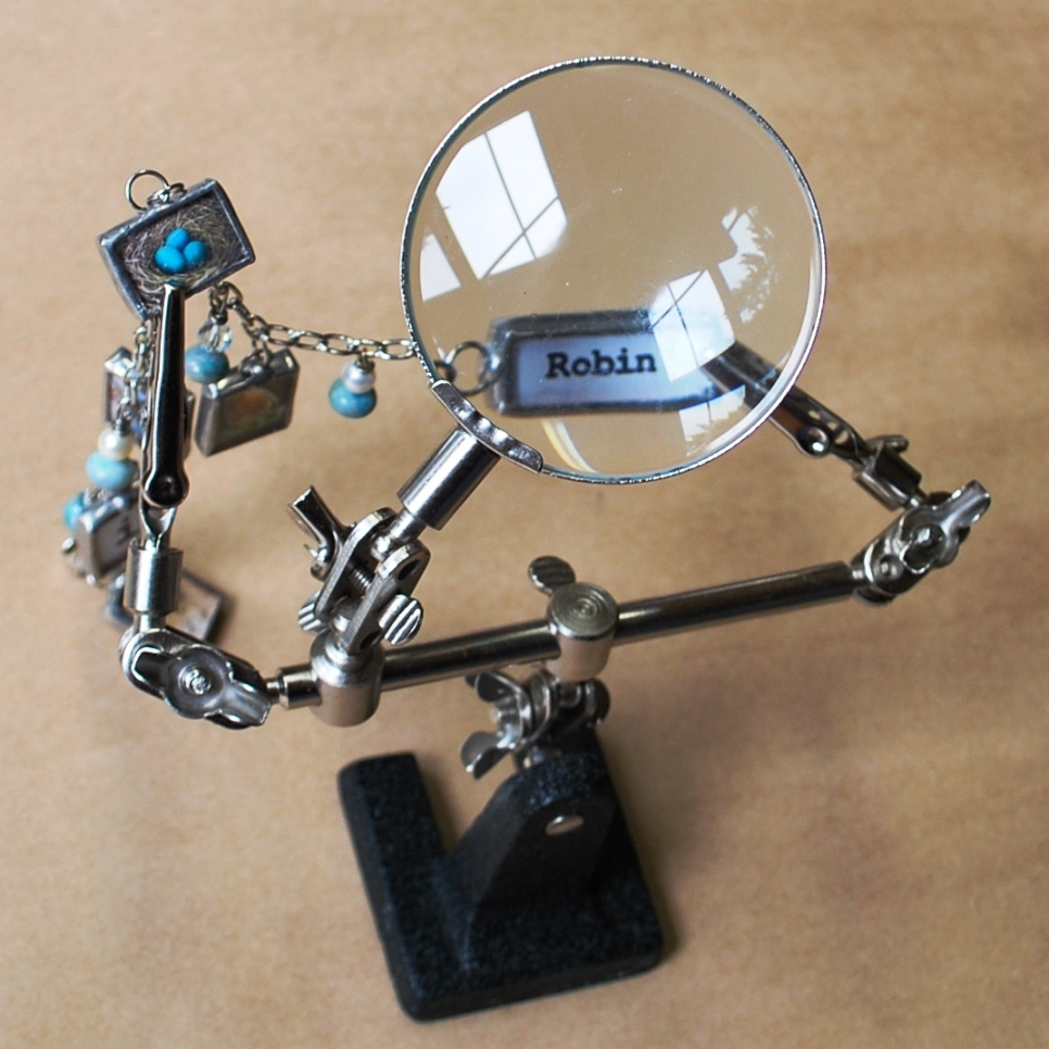 3rd hand holds small pieces for soldering help with magnifier helping hands tool glass supplies. Black Bedroom Furniture Sets. Home Design Ideas