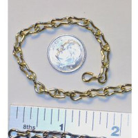 CHAIN (5 feet) Brass Plated Jack Chain - 18 Gauge