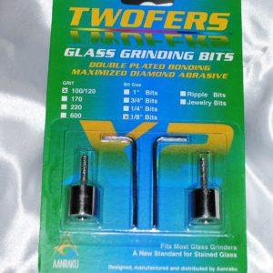 """Aanraku Twofers - 1/8"""" Grinder Bits - Standard Grit // INCLUDES 2 BITS // fits most grinders"""