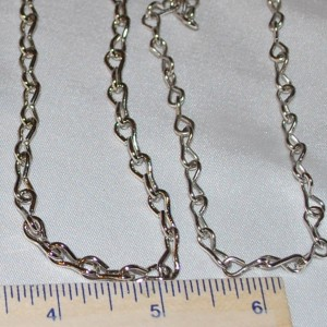 CHAIN (5 feet) Shiny Steel Jack Chain - 16 Gauge (thicker) (Silver Colored)