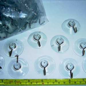 """1-1/2"""" - Suction Cups (4 cm) Metal Drop Hook (1.5 inch)"""